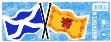 SCOTLAND CROSSED FLAGS - STICKER